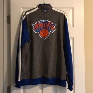 Men's New York Knicks🟧🏀🟦 zip up sweatshirt